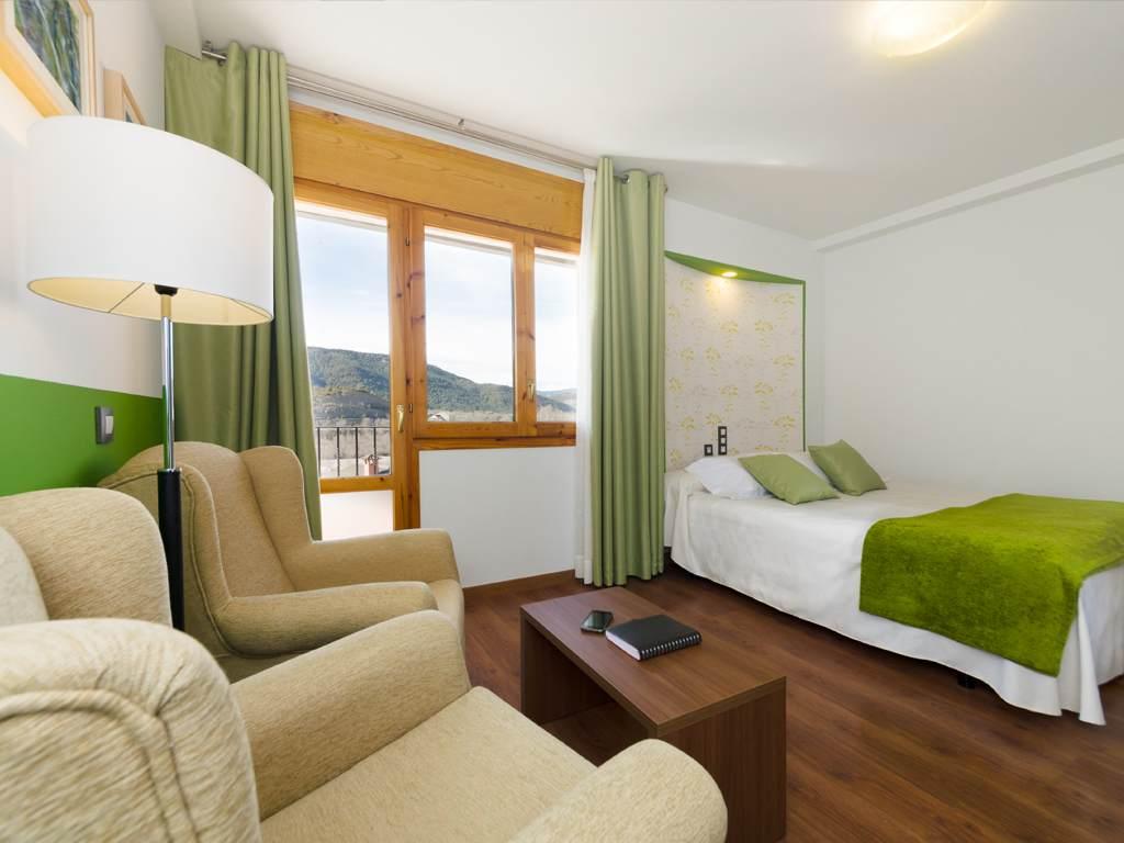 Habitación con vistas cama doble
